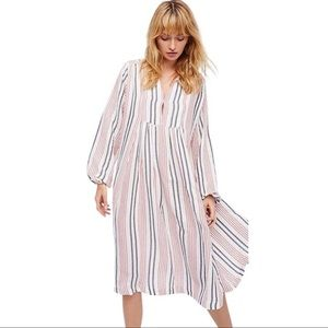 Free People Striped Queen Village Oversize Dress